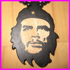 Che Guevara pendentif collier punk perle chaîne hip-hop wooden necklace