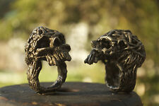 Wicked Handmade Skull ring inspired by Game of Thrones and Vikings