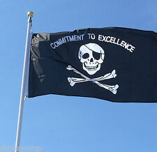 Commitment to Excellence Flag 3x5ft Banner Pirate, Garden Decoration