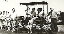 Vintage Real Photo- Wagon- Fancy Surry- Men and Ladies- 1930s-40s