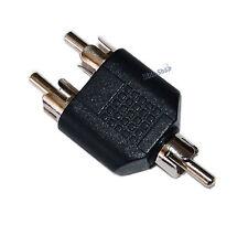 Adattatore Sdoppiatore Audio RCA 1 Maschio 2 Maschio Mono Stereo per Cavo F - F