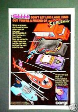 1979 Corgi Diecast Cars~Police~Superman Comic Book Promo Toy Memorabilia Art AD