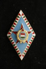 Hungary Hungarian Badge Army General Military Academy Award Badge Medal School