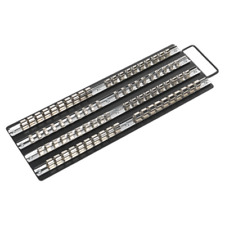 Sealey AK271B Socket Rail Tray Black 1/4 3/8 and 1/2sq Drive