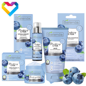 Bielenda Blueberry C-Tox For Dehydrated And Dry Skin - Cleanser Serum Cream Mask