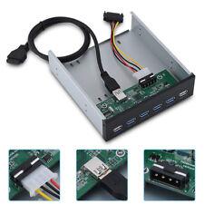 5.25'' 19Pin 4-Port USB 3.0+2-Port USB 2.0 Floppy Drive Bay Front Panel USB Hub