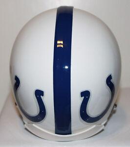 1956 Baltimore Colts Custom Throwback Riddell Mini Helmet - 2 Bar
