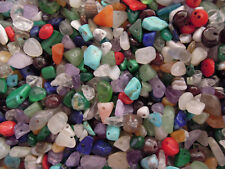 Mixed Gemstone Chips Beads, Mixed Fairy Gems/Stones Approx 100 (25g) AU SELLER