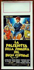 D74-LOCANDINA,LA POLIZIOTTA DELLA SQUADRA DEL BUON COSTUME,E. FENECH,1° ED. 1979