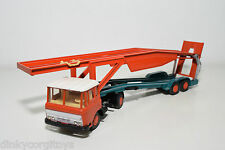 LION CAR DAF 2600 TRUCK WITH TRAILER CAR CARRIER AUTO TRANSPORTER NEAR MINT