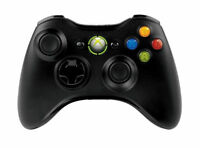 Microsoft Xbox 360 Wireless black controller Gamepads Fully Tried And Tested