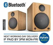 Wavemaster Cube Neo Active Bluetooth Bookshelf Speakers Bamboo,Black or White
