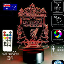 LIVERPOOL FOOTBALL CLUB LFC 3D Acrylic LED 7 Color Night Light REMOTE Table Lamp