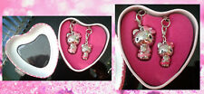 2x Hello Kitty Trinket Charms Tin for Necklace Bracelet Phone Zip - Pink Leopard