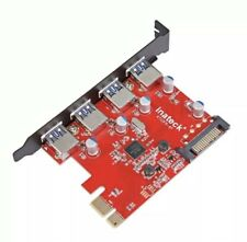 Inateck SuperSpeed 4 Ports PCI-E to USB 3.0 Expansion Card KTU3FR-4P SEALED!