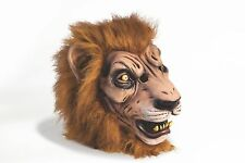 Deluxe RUBBER LION FULL HEAD MASK Wizard of Oz Fur Halloween Circus Tiger Mascot