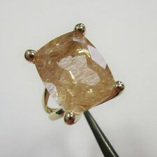 1262 - Attraktiver Ring aus Gelbgold 375 mit Rutilquarz - 2510