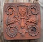 Wall tile decorative stone plaque copy of original Tudor Rose Thistle Gothic