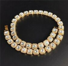 Mens Gold Chain Belcher Chain Choker 18inch Iced Out Trapstar CZ Hiphop Bling