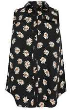 Yoursclothing Plus Size Womens Floral Print Longline Sleeveless Shirt