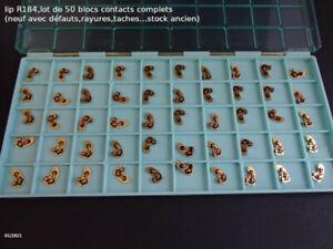 lip R184 , lot de 50 blocs contacts complets, nad (stock ancien)