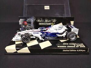 Minichamps f1 1/43 R Kubica BMW Sauber Canada Gp Winner 2008