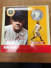1990 Legends Of Baseball Babe Ruth New York Yankees Pure Silver Coin