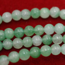 "New 4mm Natural Light Green Jade Round Gemstone Loose Beads 15"" Strand AAA"