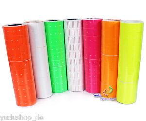 4000er Etiketten 10 Rollen für Preisauszeichner MX5500  EOS  Farbauswahl