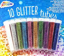Glitzerpulver 10x Glitzer Bastel Glimmer Glitter Glitzertuben ver. Farben
