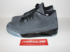 New DS Nike Air Jordan III 3 Retro 5Lab3 Black Clear 631603-010 Shoes Size 10.5