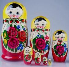 7PCS BEST PRICE RUSSIAN MATRYOSHKA NESTING DOLLS WOODEN TOY BABUSHKA HANDMADE