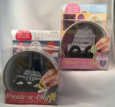 Create-a-City build your Own Cars and Roads ~ 1-Taxi & 1-Cupcake Truck