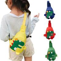 Kids Boys Girls Cute Shoulder Messenger Bags Cartoon Dinosaur Crossbody Purse