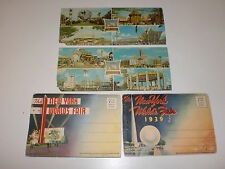 2 Vintage Classic 1939 New York World's Fair Post Card Packets, 2 1964-65 Cards