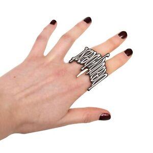 Beauty:Beast Metal 2 Finger Logo Ring