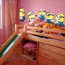 Minions Wandtattoo  XXL 5 Aufkleber Wandsticker Deko Kinder Kinderzimmer Baby