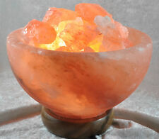 Himalayan Natural Rock Fire Bowl salt lamp with on/off switch
