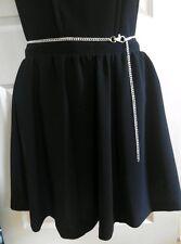 New Skirt Dress Jeans  Adjustable Length Silver Tone Metal Body Chain Waist Belt