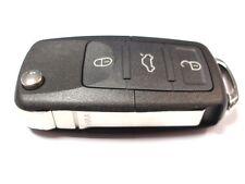 RICAMBIO 3 bottoni chiave a scomparsa Custodia per VW VOLKSWAGEN CADDY