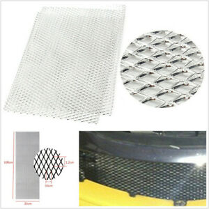 Rhombus Style 12mm*6mm Silver Aluminium Racing Automobile Grille Mesh Vent Mesh
