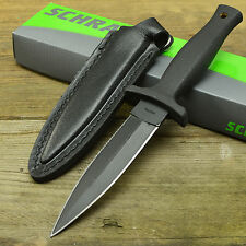 Schrade 7Cr17 Double Edge Fixed Blade Survival Large Boot Knife + Sheath SCHF19L