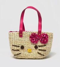 Kids' Girls' Straw Kitty Handbag Purse
