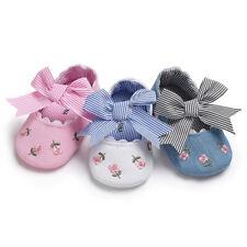 Newborn Toddler Baby Girl Soft Sole Crib Shoes Anti-slip Sneaker Prewalker 0-18M