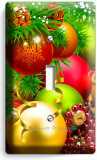 CHRISTMAS TREE BALL ORNAMENT SINGLE LIGHT SWITCH WALL PLATE COVER NEW HOME DECOR