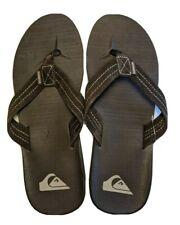 NEW Quicksilver Carver Suede Flip Flops Men's Size 7 Brown