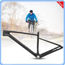 Carbon Fiber Road Bike Frame BSA MTB Mountain Bicycle Front Fork Frame Set New