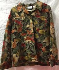 Alfred Dunner Petite Size 12 P Blouse Floral Pattern New With Tags's