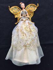 Doré Fée Ange Sapin de Noël Supérieur Cantonnière Décoration Style Vintage 23cm