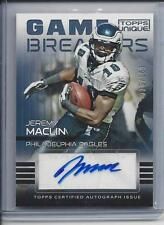JEREMY MACLIN 2009 TOPPS UNIQUE GAME BREAKERS EAGLES AUTO RC #D 20/100